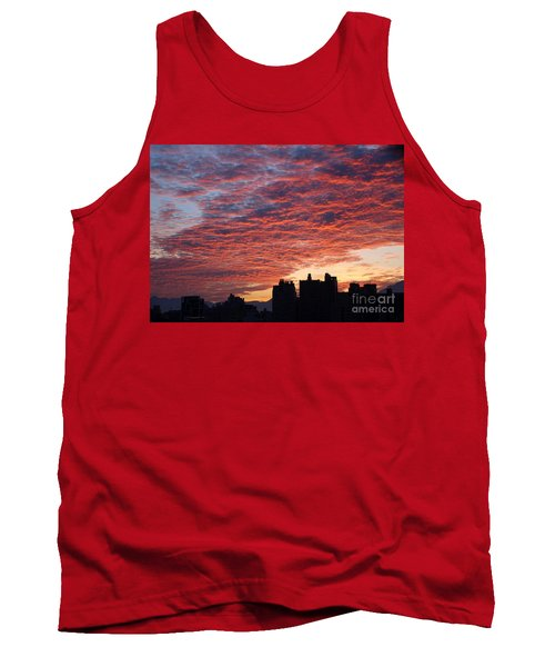Tank Top featuring the photograph Dramatic City Sunrise by Yali Shi