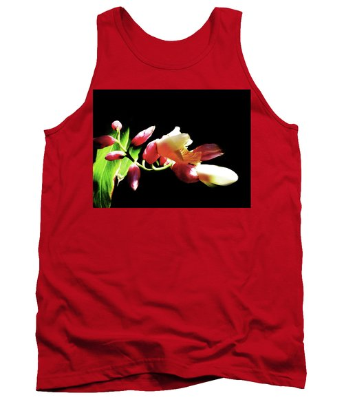 Dramatic Oriental Orchid Tank Top by Tina M Wenger