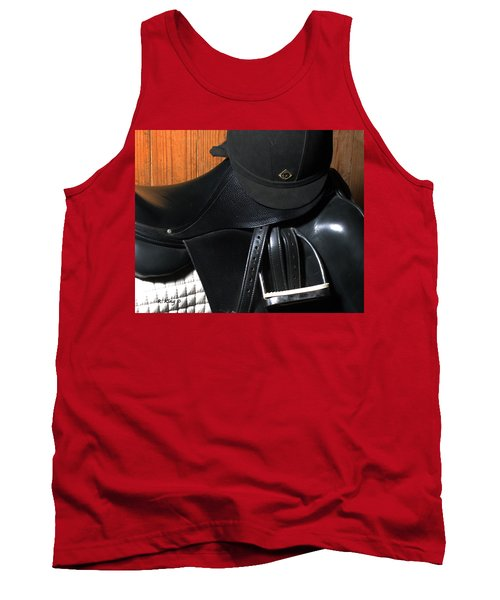 Tank Top featuring the painting Drassage Ready by Roena King