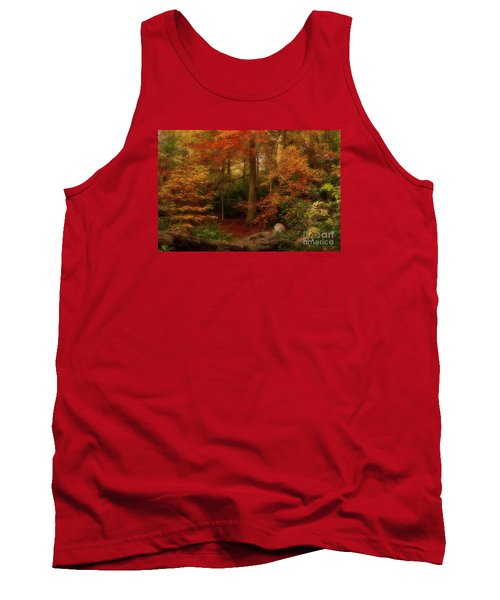Dreamy Forest Glade In Fall Tank Top
