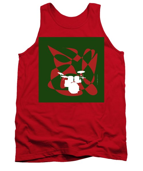 Drums In Green Strife Tank Top
