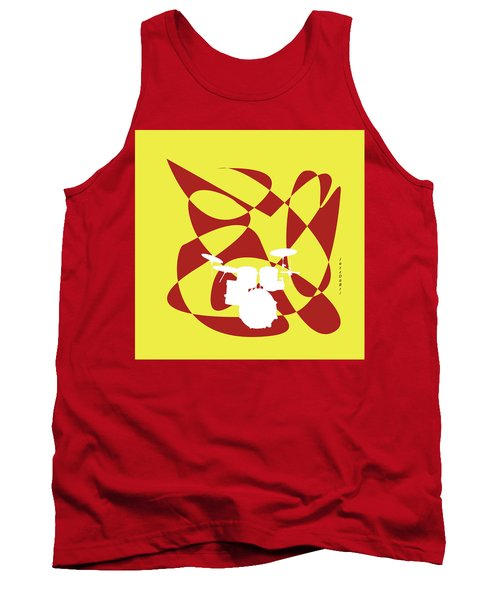 Drums In Yellow Strife Tank Top