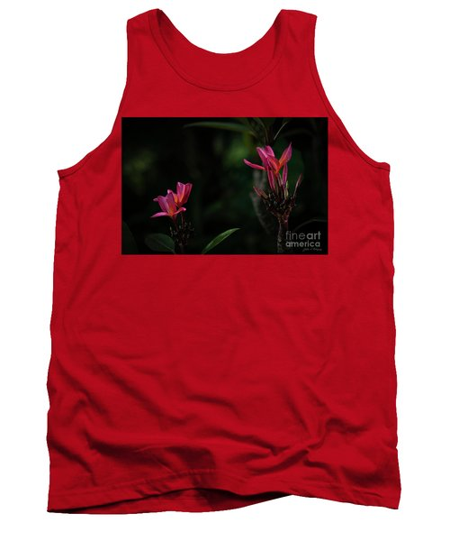 Dual Red Plumerias Tank Top