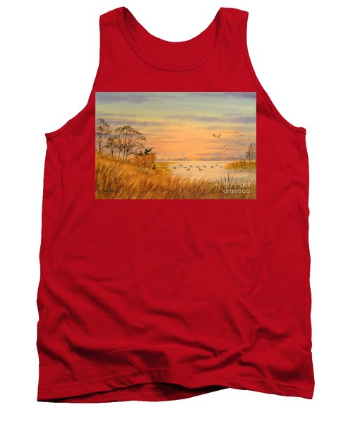 Tank Top featuring the painting Duck Hunting Calls by Bill Holkham