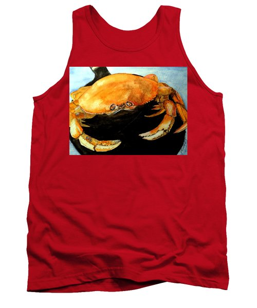 Tank Top featuring the painting Dungeness For Dinner by Carol Grimes