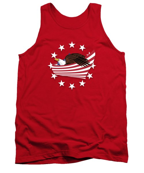 Eagle Of The Free V1 Tank Top by Bruce Stanfield