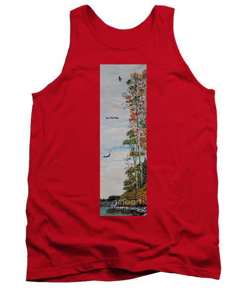 Tank Top featuring the painting Eagles Point by Marilyn  McNish