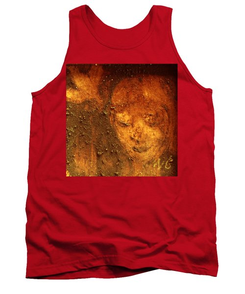 Tank Top featuring the painting Earth Face by Winsome Gunning