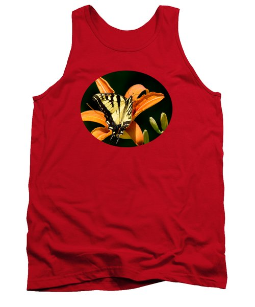 Tank Top featuring the photograph Eastern Tiger Swallowtail Butterfly-1 by Christina Rollo