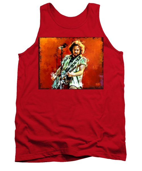 Eddie Vedder Painting Tank Top by Scott Wallace