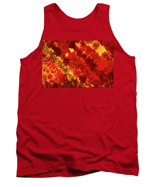 Edgy Flowers Through Glass Tank Top