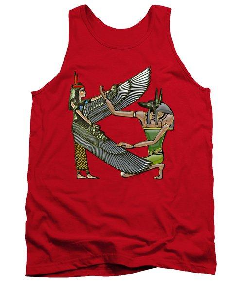 Egyptian Gods Anubis And Nut Tank Top