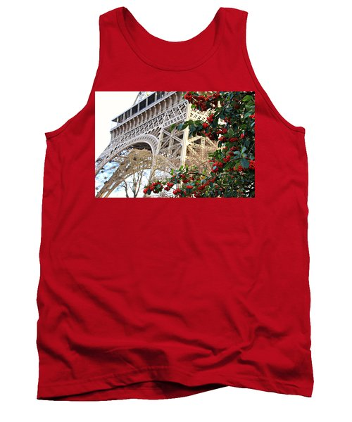 Tank Top featuring the photograph Eiffel Tower In Winter by Katie Wing Vigil
