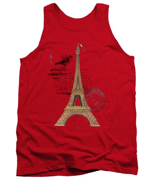Eiffel Tower T Shirt Design Tank Top by Bellesouth Studio