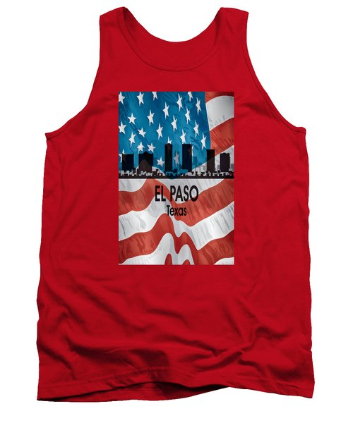 El Paso Tx American Flag Vertical Tank Top