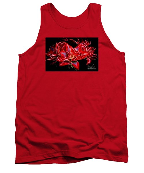 Electric Amaryillis Tank Top by Darleen Stry