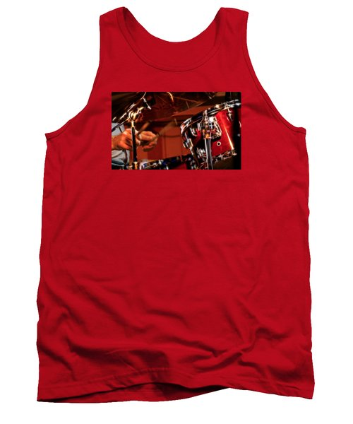 Tank Top featuring the photograph Electric Drums by Cameron Wood
