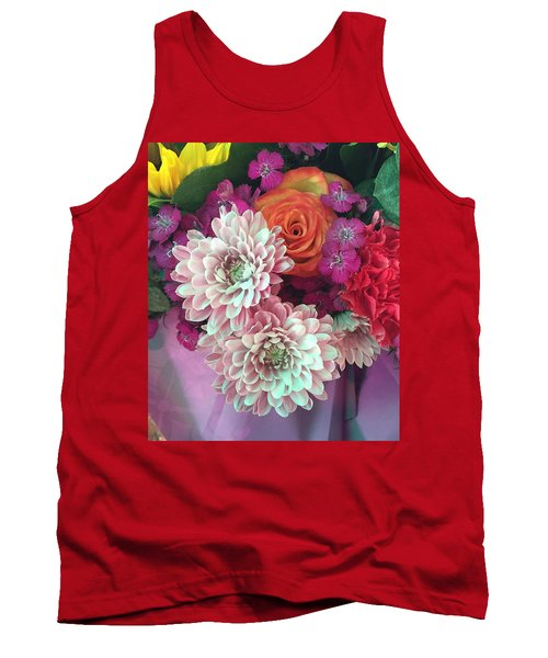 Tank Top featuring the photograph Elegant And Romantic by Peggy Stokes