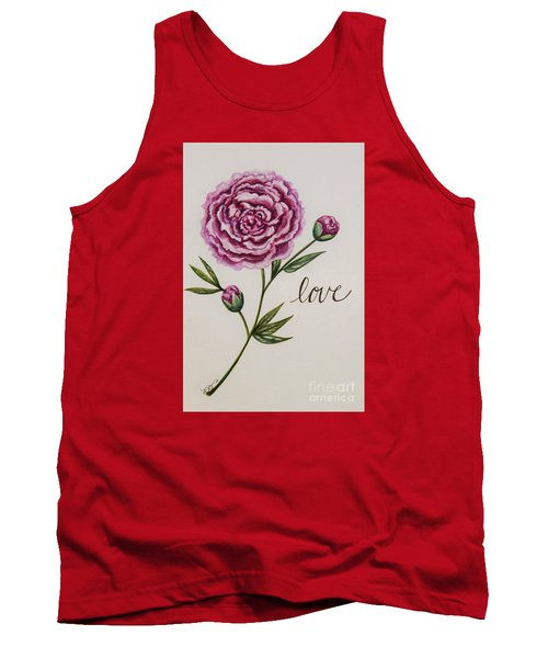 Tank Top featuring the painting Elegant Love by Elizabeth Robinette Tyndall