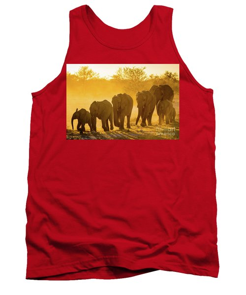 Elephant Sunset Tank Top