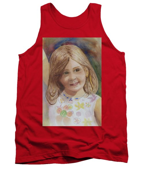 Tank Top featuring the painting Elizabeth by Donna Walsh