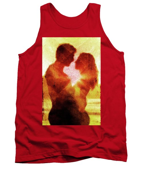 Tank Top featuring the digital art Embrace by Andrea Barbieri