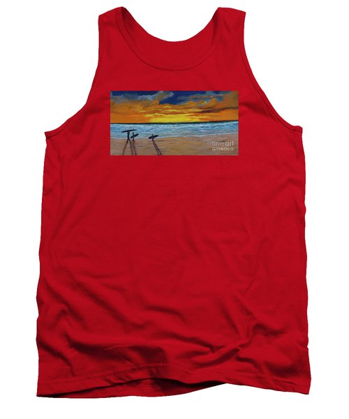 Tank Top featuring the painting End Of Day by Myrna Walsh