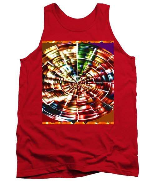 Energy Aura Cleaning Wheel In Motion Yoga Meditation Mandala By Navinjoshi At Fineartamerica.com Tank Top