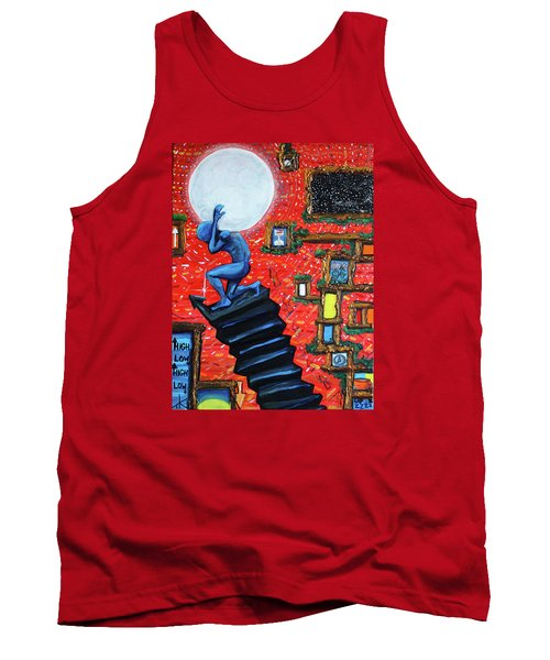 Tank Top featuring the painting Energy Flow, The Active Space And The Effects Of The Rising Moon by Similar Alien
