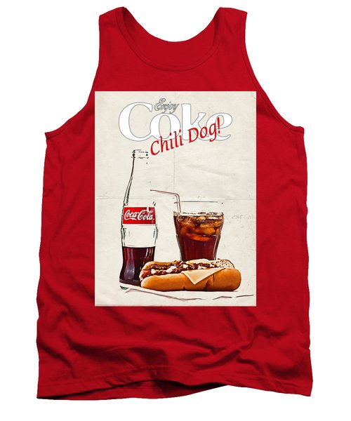 Enjoy Coca-cola With Chili Dog Tank Top