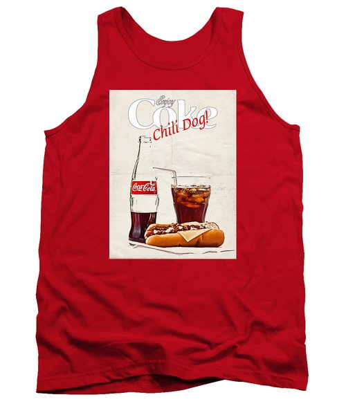 Enjoy Coca-cola With Chili Dog Tank Top