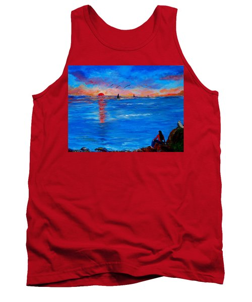 Enjoying The Sunset Differently Tank Top