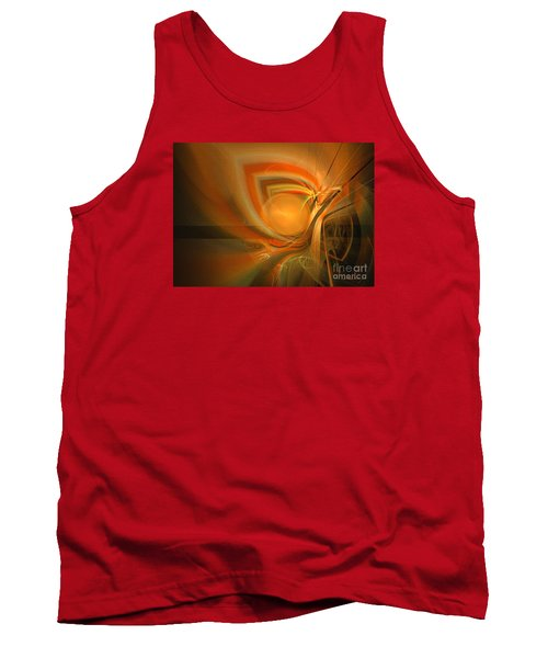 Tank Top featuring the digital art Equilibrium - Abstract Art by Sipo Liimatainen