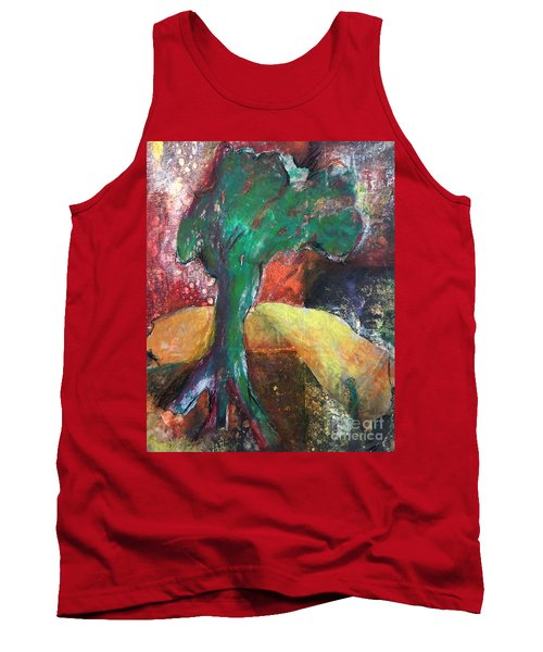 Tank Top featuring the painting Escaped The Blaze by Elizabeth Fontaine-Barr