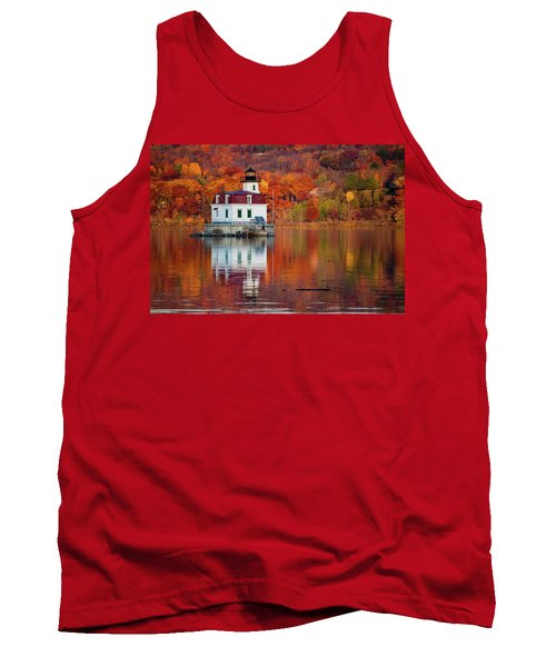 Tank Top featuring the photograph Esopus Lighthouse In Late Fall #2 by Jeff Severson