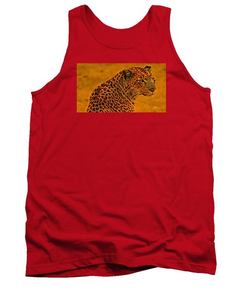 Essence Of Leopard Tank Top by Stephanie Grant