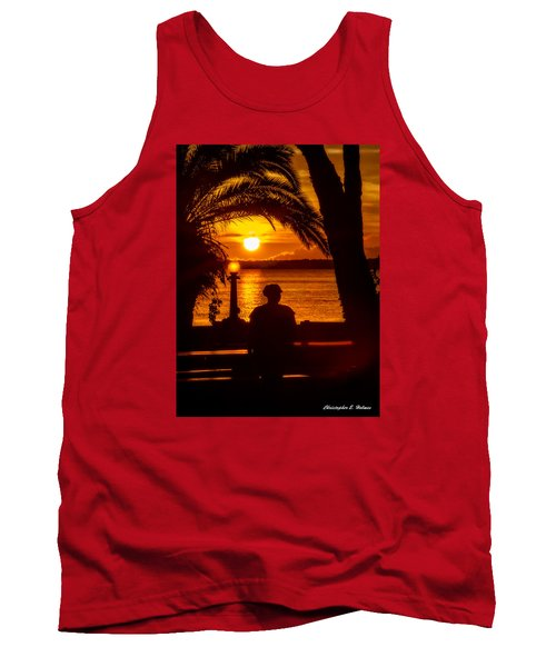 Tank Top featuring the photograph Eustis Sunset by Christopher Holmes