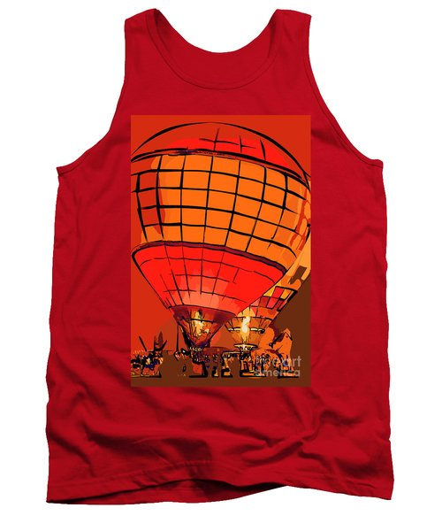 Evening Glow Red And Yellow In Abstract Tank Top