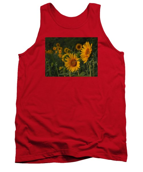 Evening Sunflowers Tank Top