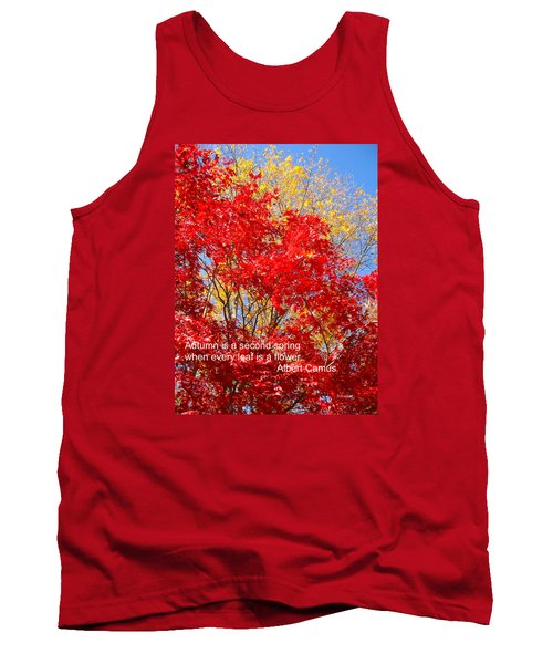 Every Leaf Is A Flower Tank Top by Deborah Dendler