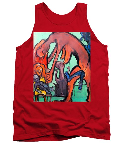 Evolution Stuck - Fertility Tank Top by Kenneth Agnello