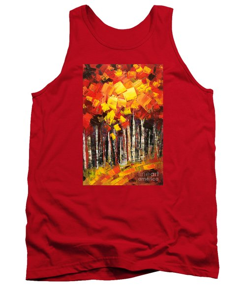 Tank Top featuring the painting Exaltant by Tatiana Iliina
