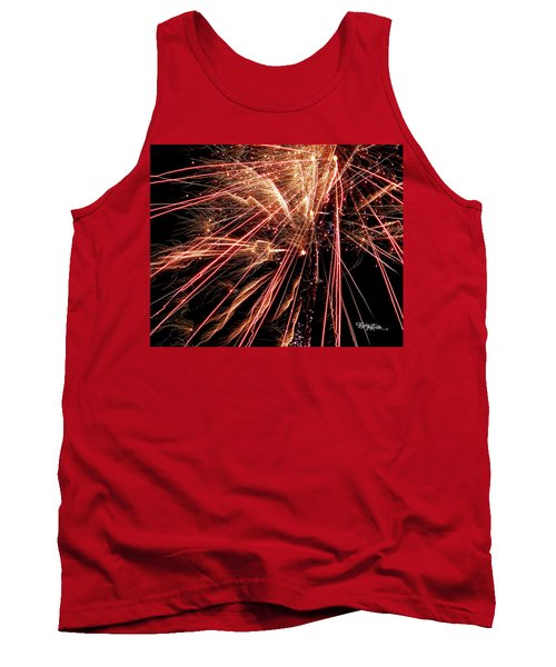 Tank Top featuring the photograph Exciting Fireworks #0734 by Barbara Tristan