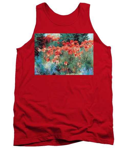 Tank Top featuring the painting Excitment by Rosario Piazza