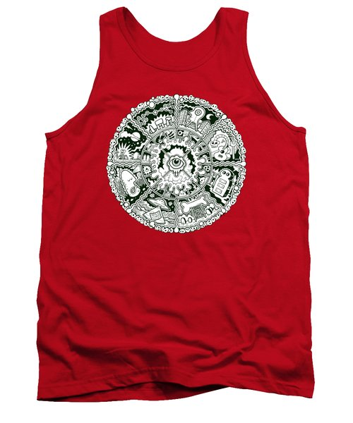 Eye Mandala Black And White Tank Top