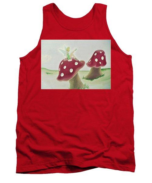 Fairy On Mushroom Trees Tank Top