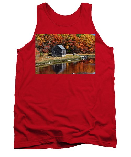 Fall At Rye Tank Top by Tricia Marchlik