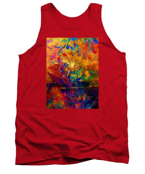 Tank Top featuring the painting Fall Bouquet  by Lisa Kaiser