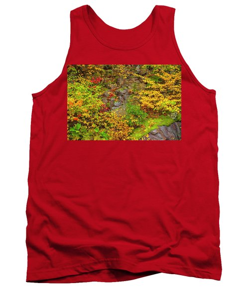 Fall Color Patchwork Tank Top by David Cote