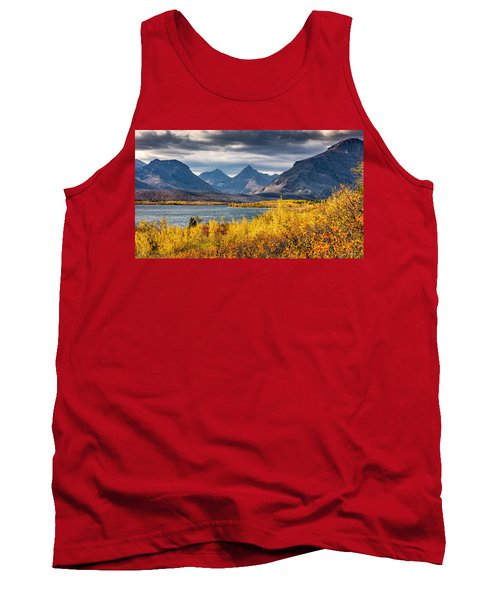 Tank Top featuring the photograph Fall Colors In Glacier National Park by Pierre Leclerc Photography